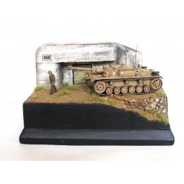 Cesta kolem bunkru (barva 1/72)